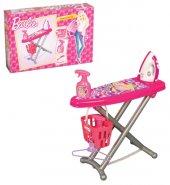 Yabidur Barbie Lisanslı Oyuncak Askılı Sepetli Ütü Masası