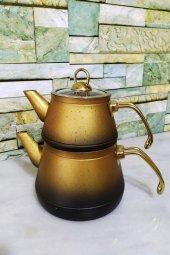 Elegance Granit Çaydanlık Seti Gold Elegold