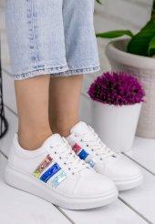 Mirica Beyaz Cilt Renkli Hologram Spor Ayakkabı