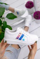 Mirica Beyaz Cilt Renkli Hologram Spor Ayakkabı-3