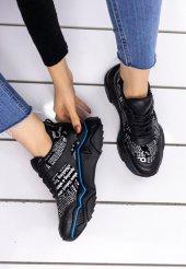 Vira  Siyah Cilt Yazılı Spor Ayakkabı-2