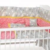 Sluupy Kırmızı Figürlü Bebek Uyku Seti 60x120
