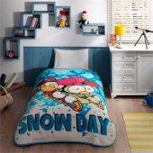 Taç Sizinkiler Snow Day Lisanlı Battaniye Tek...
