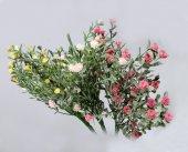 Pudralı Yapay Kır Çiçeği Demeti 3 Renk 25 Cm