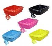 Kürek Hediyeli Açık Kedi Tuvaleti 36x49x13 Cm 5 Renk