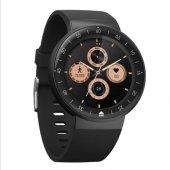 Olix V15 Yuvarlak Kadranlı Suya Dayanıklı Akıllı Saat Smart Watch Siyah