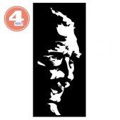 Modacar 4 Adet 22 Cm Beyaz Atatürk Silüet Sticker 427995