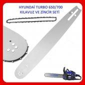 Hyundai Turbo 650 700 Motorlu Testere Kılavuzu...