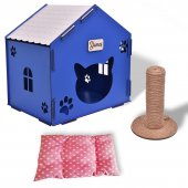 Pisi Home Özel Kedi Evi Kedi Yatağı Ve Kedi...