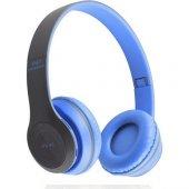 Gomax P47 Kablosuz Kulaklık Mavi
