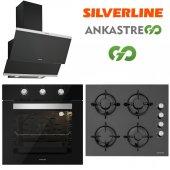 Silverline Siyah Cam Ankastre Set BO6503B01 - CS5349B01 - 3420