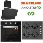 Silverline Siyah Cam Ankastre Set BO6503B01 - CS5349B01 - 3420-5