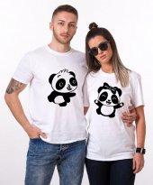 Tshirthane Panda Dans Sevgili Kombinleri tshirt kombini Sevgili Çift tshirt