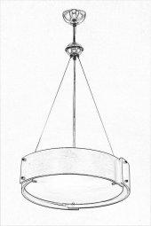 AVONNI AV-1362-1KV Venge Boyalı Sarkıt, E27, Ahşap, Pleksi, 45cm-8