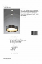 AVONNI AV-1362-1KV Venge Boyalı Sarkıt, E27, Ahşap, Pleksi, 45cm-10