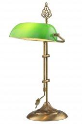 AVONNI ML-9063-GREEN Yeşil Boyalı Çalışma Lambası, E27, Metal, Cam, 30x20cm