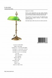 AVONNI ML-9063-GREEN Yeşil Boyalı Çalışma Lambası, E27, Metal, Cam, 30x20cm-11