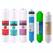 Su Arıtma Cihazı Filtresi Kapalı Kasa 6 Lı Set Alkali Filtreli