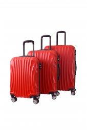 Nuovo 6000 Kırmızı 3'lü Seyahat Valiz Seti