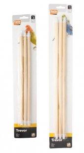 Karlıe Ahşap Kuş Tüneği 3lü 35x12mm