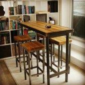 Bar Tipi Masa Ve Sandalye Takımı