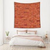 Kırmızı Tuğla Deseni Duvar Örtüsü