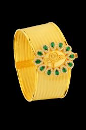 Yeşil Taşlı Papatya 12 Sıra Rize Kelepçe