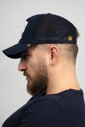 DeepSEA Lacivert Çerçeveli At Desen Ayarlanabilir Boyut Fileli Şapka 1908779-2