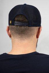 DeepSEA Lacivert Çerçeveli At Desen Ayarlanabilir Boyut Fileli Şapka 1908779-3