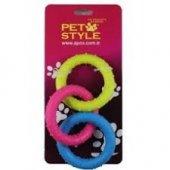 Pet Style Üçlü Halka Köpek Oyuncağı Diş Kemiği 20 Cm