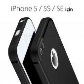 Apple İphone 5 5s 5se Kamera Korumalı İnce Mat Silikon Kılıf