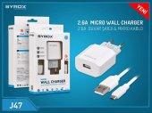 Syrox Micro Usb Şarj Cihazı 2.6a Güvenli Adaptör Syx J47