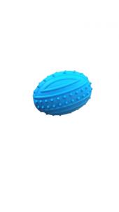 Pratik Tırtıklı Köpek Oyuncağı Top Mavi 10 Cm