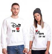 Tshirthane Dad Mom To Be Sevgili Kombinleri tshirt kombini Sevgili Sweatshirt Uzunkollu
