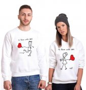 Tshirthane Love With Sevgili Kombinleri tshirt kombini Sevgili Sweatshirt Uzunkollu
