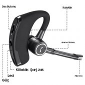 V6 Bluetooth Kulaklık V 4,1 , Koruma, Ajan, Polis, Üstün Ses Kalitesi, Mikrofonlu, İPHONE 6/7/8 UYUMLU-3