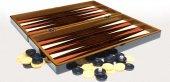 Yenigün Ahşap Ceviz Tavla Takımı Backgammon Büyük Boy