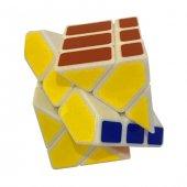 Fosforlu Siyah Zeminli Rubiks Zeka Küpü Sabır Axis Sihirli Küp-2