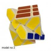 Fosforlu Siyah Zeminli Rubiks Zeka Küpü Sabır Axis Sihirli Küp-5