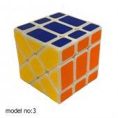 Fosforlu Siyah Zeminli Rubiks Zeka Küpü Sabır Axis Sihirli Küp-6