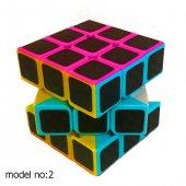 Fosforlu Siyah Zeminli Rubiks Zeka Küpü Sabır Axis Sihirli Küp-7