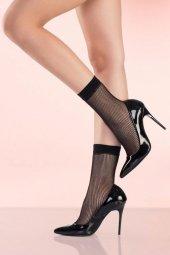 Mite Love Siyah File Soket Çorap