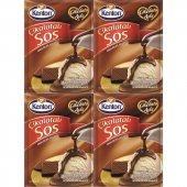 Kenton Sos Çikolata Aşkı Çikolatalı 128gr 4lü...