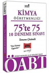 Yargı Yayınları 2020 ÖABT Kimya Öğretmenliği 75te 75 Tamamı Çözümlü 10 Deneme Sınavı