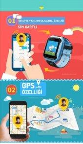 AKILLI ÇOCUK SAATİ GPS KAMERA SİM KARTLI IMEI KAYITLI-5