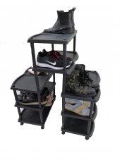 8 Katlı Maxi Plastik Ayakkabılık Siyah