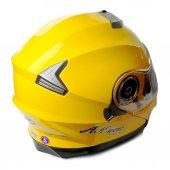 AK Çene Açılır Sarı Motosiklet Kaskı XL-2