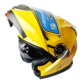 AK Çene Açılır Sarı Motosiklet Kaskı XL-3
