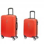 Nuovo 7000 Kırmızı 2'li Seyahat Valiz Seti (Orta Ve Küçük Boy)