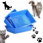 3 Aşamalı Elekli Çok Kolay Temizlenen Kedi Tuvaleti